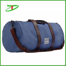 Wholesale cotton travel duffel bag, design canvas tourist bag