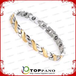 Positive Women And Men Set Stainless Steel Germanium Quantum Scalar Energy Bracelet