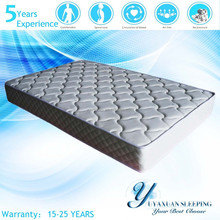 2014 Hot Selling 100% Natural Latex Spring Mattress Queen With Knitted Fabric