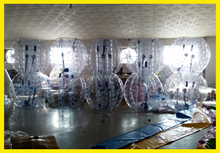 Factory direct sale 100% 1.0mm PVC/TPU inflatable human bumper ball, plastic bubble ball, bubble ball for football