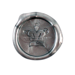 Crown Design Flexible Wax Seals - Silver or Gold