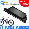 2014 New! Downtube mounted electric bike battery pack lithium 48V/10.4Ah