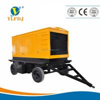 Factory price,350kva/280kw generator 50hz/60hz powered by Cummins engine with four-wheeled trailer