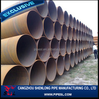 Submerged arc welded spiral cement mortar lined steel pipe