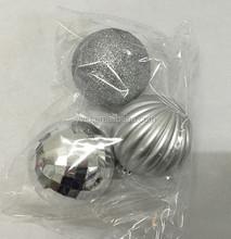 silver plastic christmas ball set christmas canister set