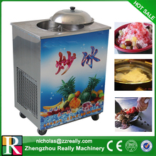 Low investment single and double flat pan fry ice cream machine