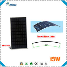 hottest 15W sunpower portable solar panel with dual voltage controller charging tablet best