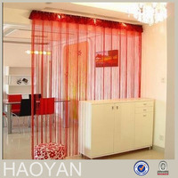 spaghetti red string shower curtains window shade
