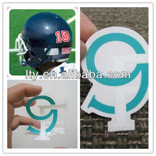 customizable number and letter decals clear stickers for helmets(M-A22)