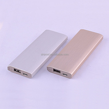 aluminum shell Li-Polymer 6000mAh Qualcomm QC 2.0 universal portable power pack quick charge for mobile phone tablet pc