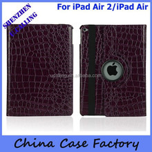 Royal Crocodile Pattern 360 Stand Leather Case For iPad Air 2