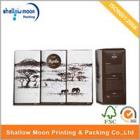 Customized cardboard paper tea box, custom cardboard package design box