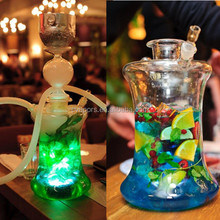 Mushroom glass hookah with led light water glass pipe