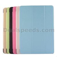 Diamond Texture Tri-Fold Leather Flip Case for iPad Air /iPad 5(Green/Blue/Light Yellow/Pink/)