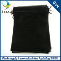 Wholesale 30x40cm Logo Printed Strong Sheer Hair Organza Packaging Bags Large
