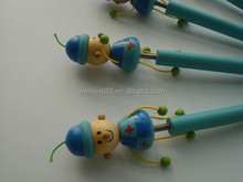 2015 new products cute boy wooden fancy ballpoint pen imported from china