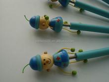 2015 novos produtos menino bonito de madeira caneta esferográfica fantasia importados da china
