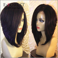 100% Virgin Brazilian Glueless Silk Base Full Lace Wigs Human Hairs Yaki Bob Style For Black Women
