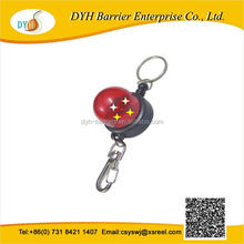 Unique plastic shape badge reel retractor with bling led light