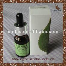 hot sale 100% pure peppermint massage oil in brown bottle +dropper