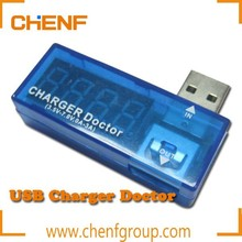 Newest Cheaper Portable LCD Small Voltage tester/current tester usb charger doctor
