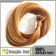 TH-043 Top 5a 100 Keretin Tipped Human Hair Extension Genuine Raw Ring Hair Indian Virgin Human Hair Extensions