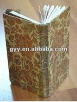 Customized cloth cover notebook/calendar 2012