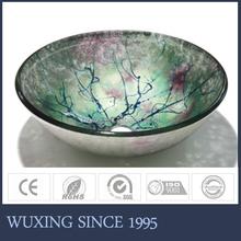 Sakura flower design spring feeling commercial bathroom bowl sink for bathroom