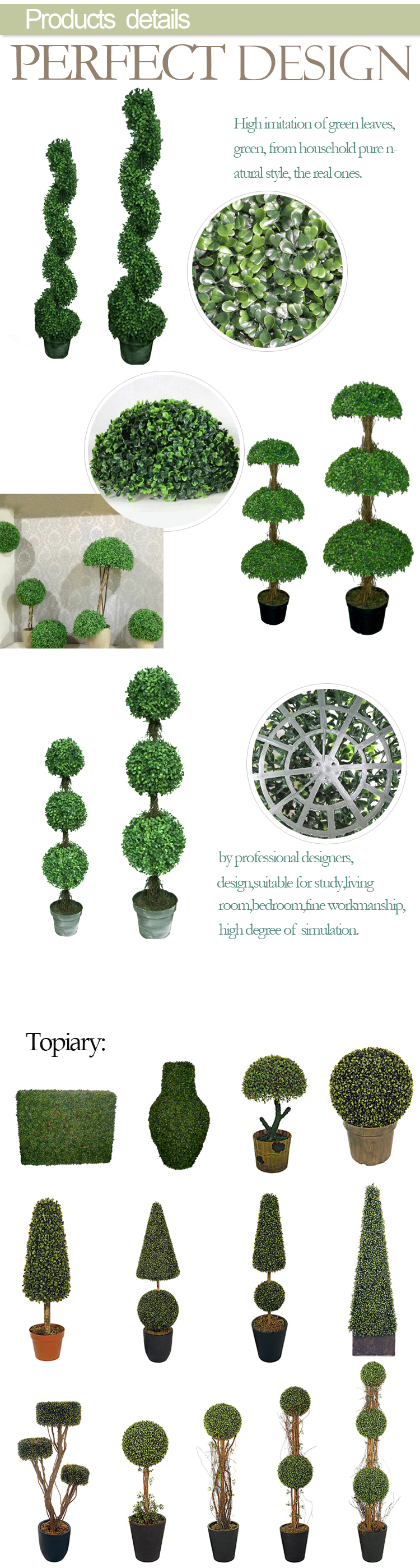 Artificial Plants Topiary Bonsai Tree Wire Topiary Frames Milan ...