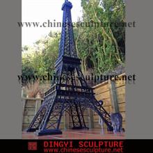metal sculpture of Eiffel Tower model