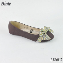 china leather manufacturers latin dance shoe with shivering bow