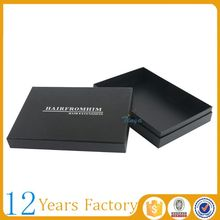 Matte black packaging boxes for hair product