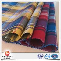 60 cotton 40 polyester plaid peach twill heavy flannel fabric