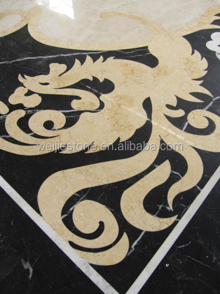 American Style Marble Inlay Flooring Design Cheap Flower