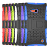 Heavy Duty Rugged Dual Layer Armor with Kickstand Cover Case For Nokia 735