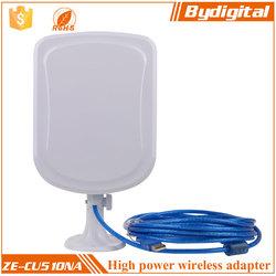 Bydigital WIFI Long Range Wireless USB Adapter with 12dbi antenna