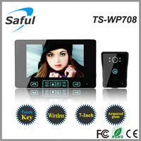 2 wire video intercom system Saful TS-WP708 300m wireless video door phone