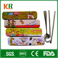 pencil box shape tin box for chopstick gift package