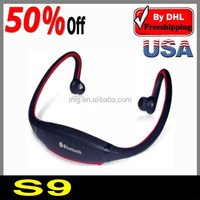 stereo bluetooth headset S09 CSR 4.0 with card slot FM, sport GYM running high definition speaker earphone