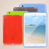 Top Quality Smooth TPU Soft Transparent Case Cover Skin Protector for Apple iPad Mini