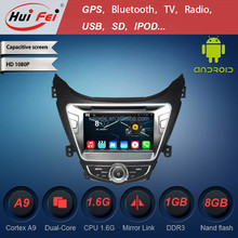 most popular HuiFei car radio car dvd touch screen gps for Hyundai support BT USB DTV IPOD