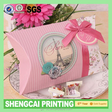 Wholesale top grade popular Special paper pillow case box packaging
