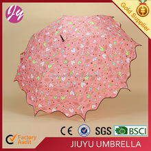 New Product Promotional 23inch 8ribs Plastic Umbrella steel Shaft, J handle ,straight umbrella with shoulder strap