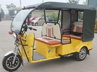 Battery Powered Electric / 3 Wheeler with Roof / passenger rickshaw / China top tricycle