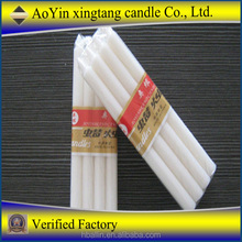 Produce church white candle, paraffin wax with palm oil/white pillar candle