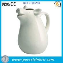 White small custom pig design giftware Dolomite Pitcher wholesale