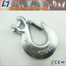 china manufacturer carbon steel forged lifting marine hardware steel hooks