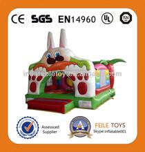 2014 venta caliente/baratos adorable conejo inflable saltar gorila combo/toboganes inflables gorila para los niños