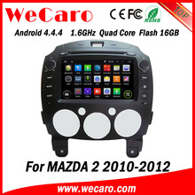 """Wecaro Android 4.4.4 navigation system 8"""" touch screen for mazda 2 car stereo WIFI 3G 1.6 ghz cpu 2010-2012"""