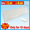 wireless computer accessory chocolate multimedia slim keyboard and mouse